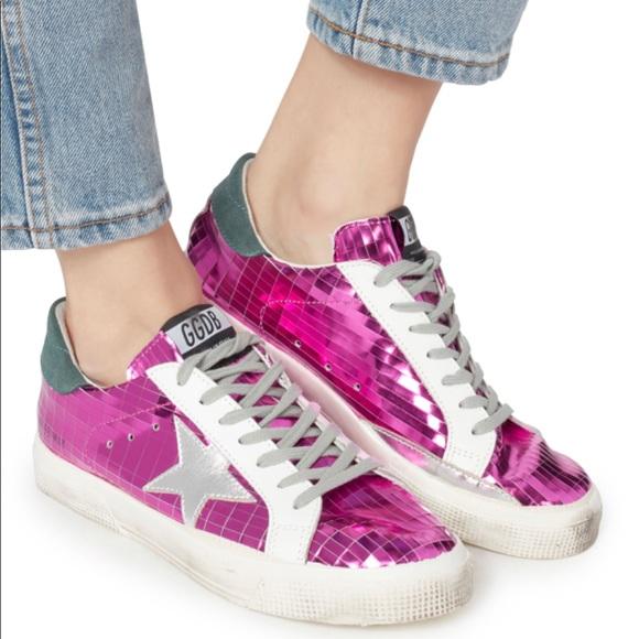golden goose shoes pink